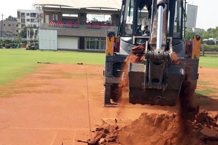 Turf Wicket Soil Change